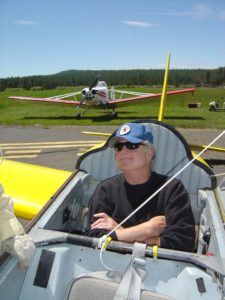 Denis in the Big Yellow Glider