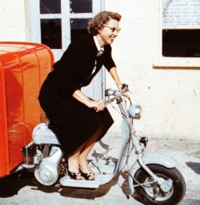 Mom on scooter